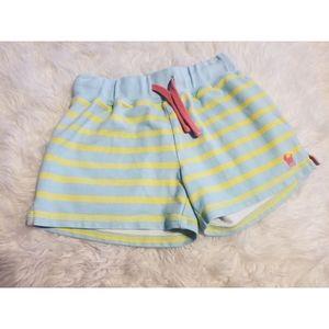 💘 Mini Boden Striped Cotton Shorts